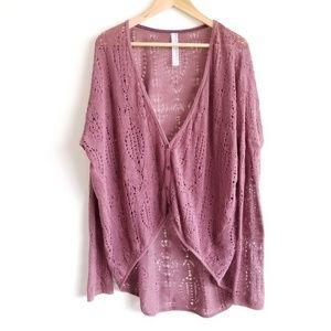 Free People x New Romantics Button Cardigan Knit